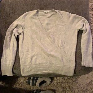 Madewell wrap covered pull over in cozy yarn
